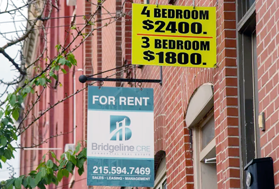 Rental signs in Philly